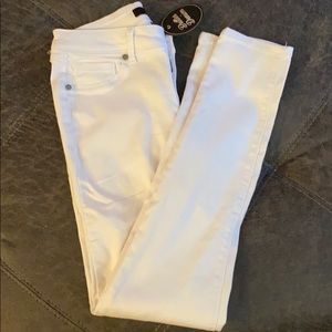 White stretch jeans